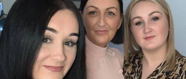 Sarah Jane with daughters Aimee left and Kayleigh right Nov 2019.jpg