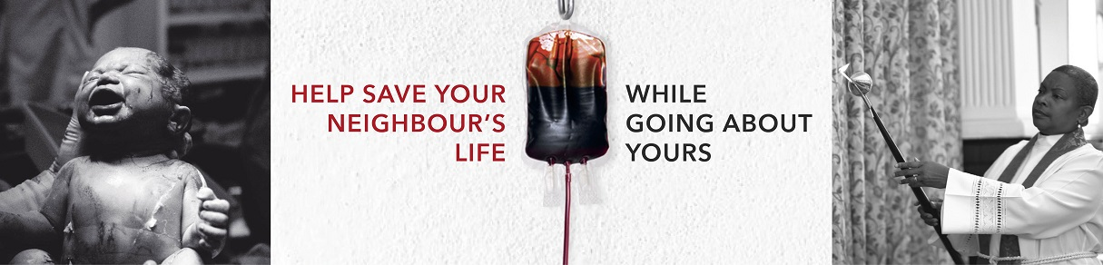 Help save your neighbour's life while going about yours - Church campaign graphic
