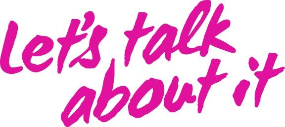 Let's talk about it campaign logo