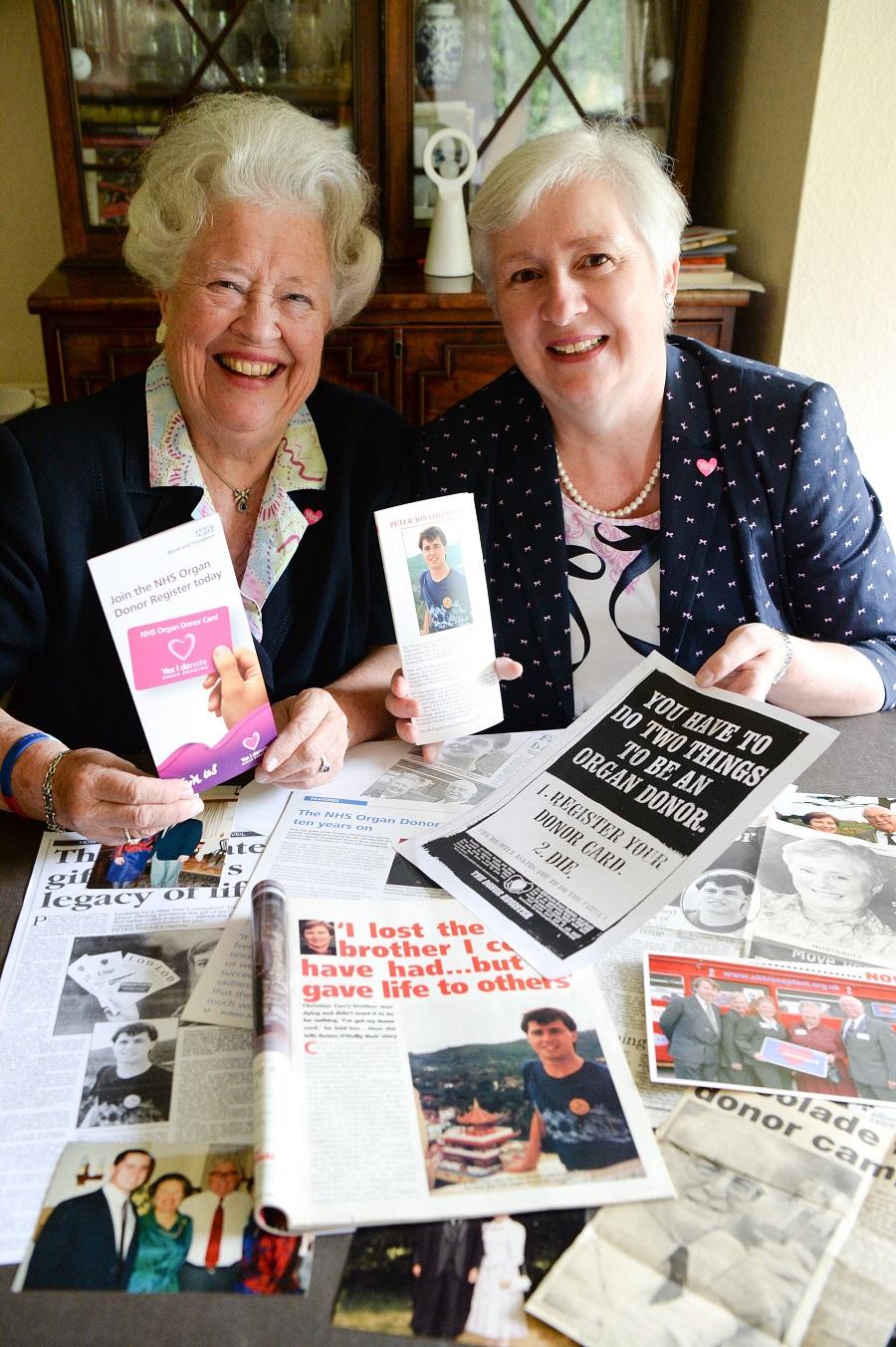 Rosemary Cox left and Christine Cox