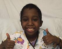 Shaylah, who has sickle cell disease