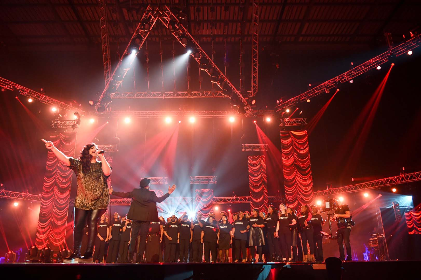 The B Positive choir at the 2017 MOBO Awards
