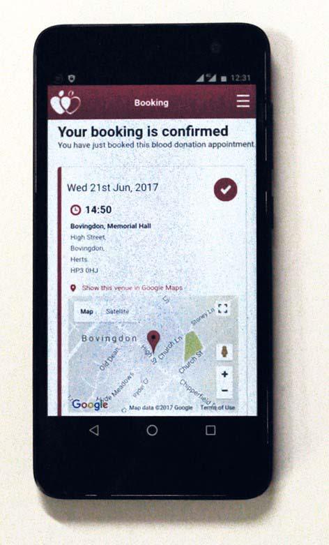 NHSGiveBlood mobile app