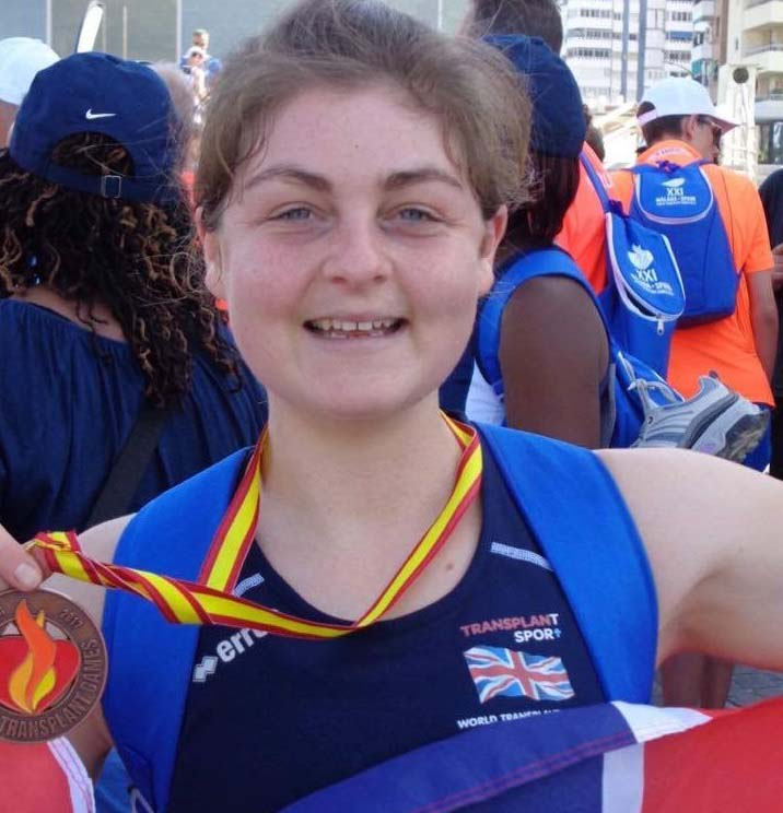 Ella Gibson at the Transplant Games