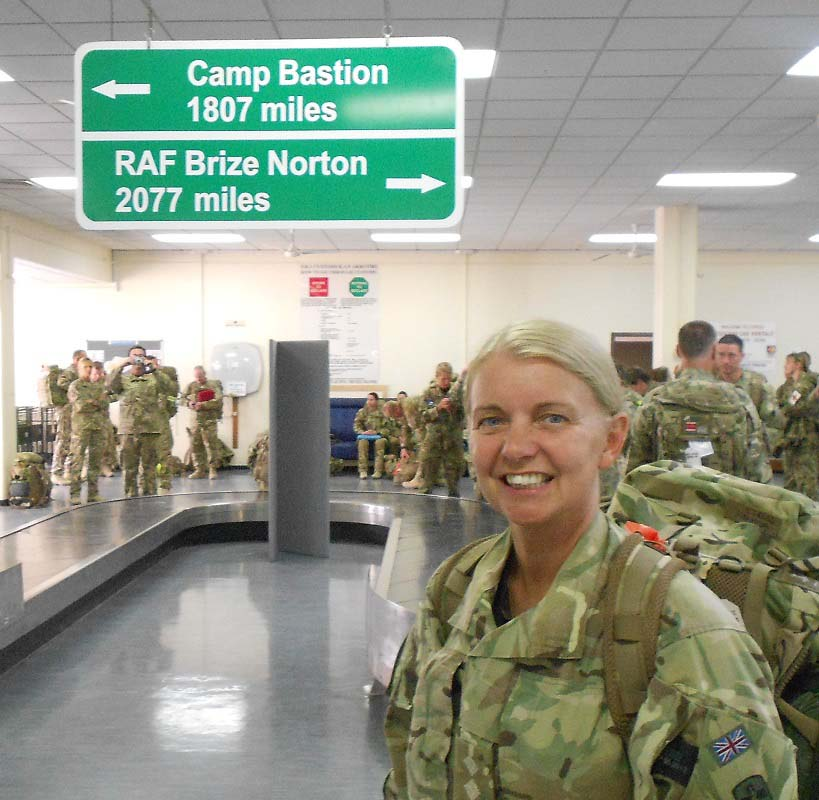 Rosie at Camp Bastion