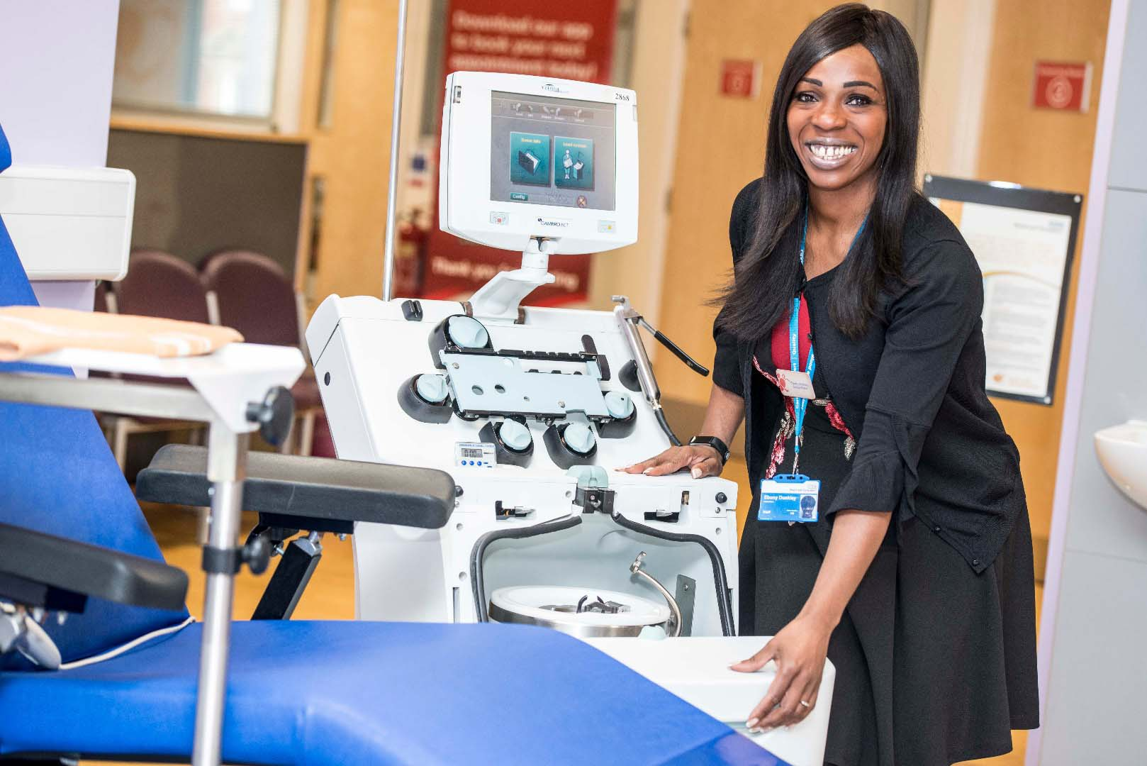 Senior Sister Ebony Dunkley at the Nottingham Blood Donor Centre