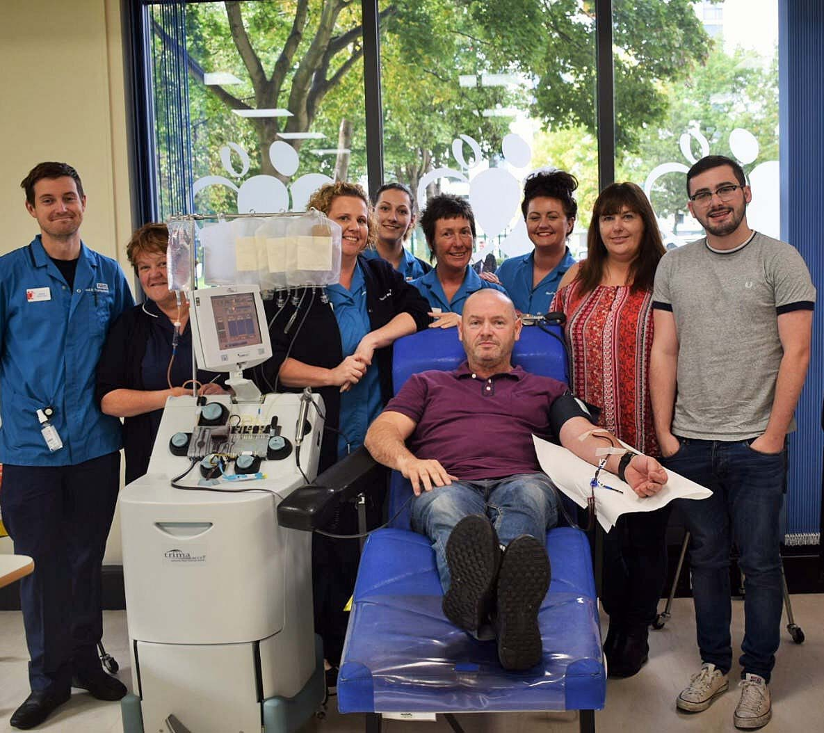 Gogglebox's Tom Malone donating platelets