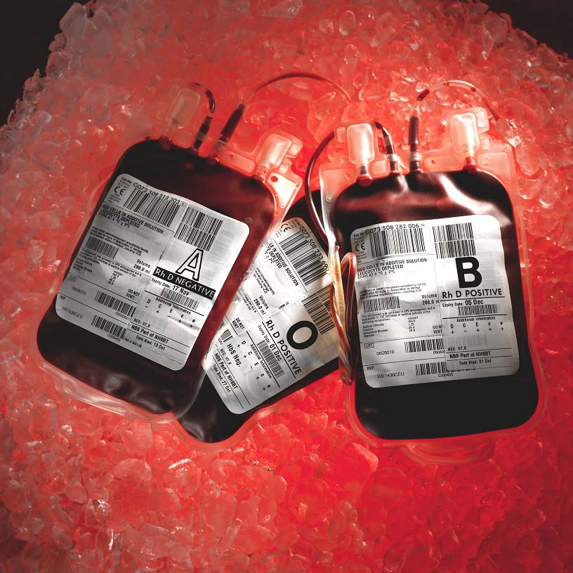 Blood donation packs