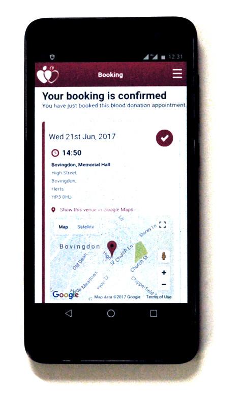 GiveBlood mobile app