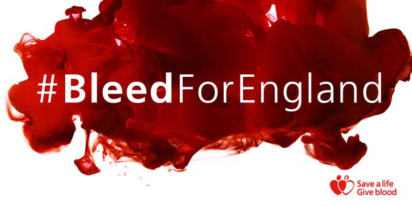 #BleedForEngland campaign image