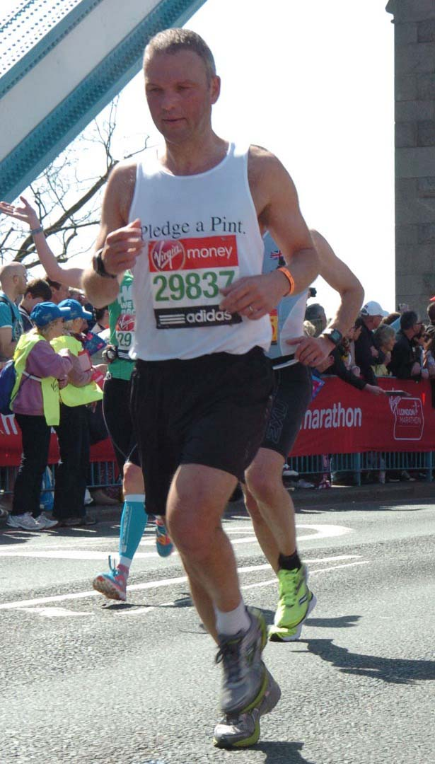 Sam Roden running the London Marathon