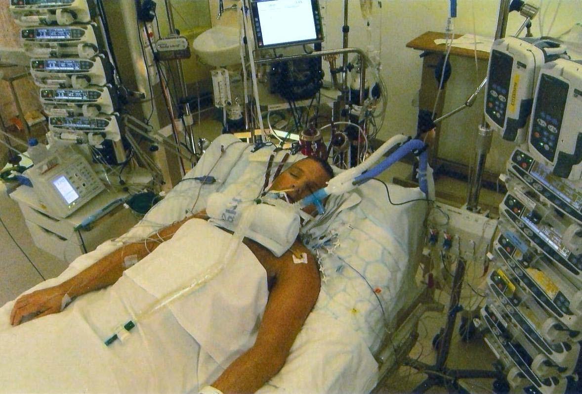 Sam Roden in hospital