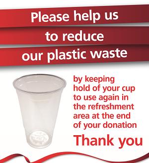 Poster about reducing plastic waste
