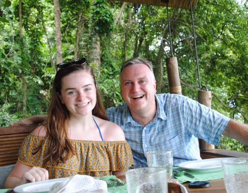Emily Dormer with her Dad