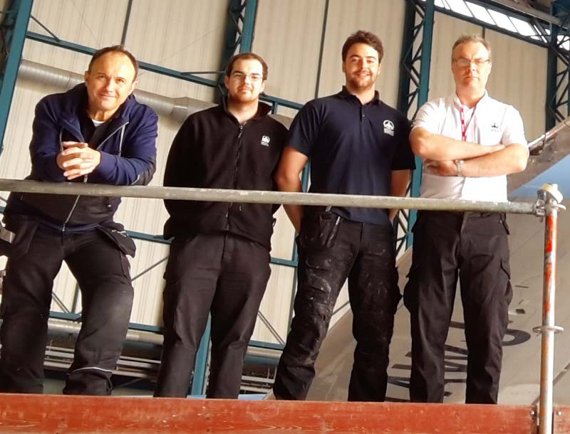 Andy Robinson with work colleagues