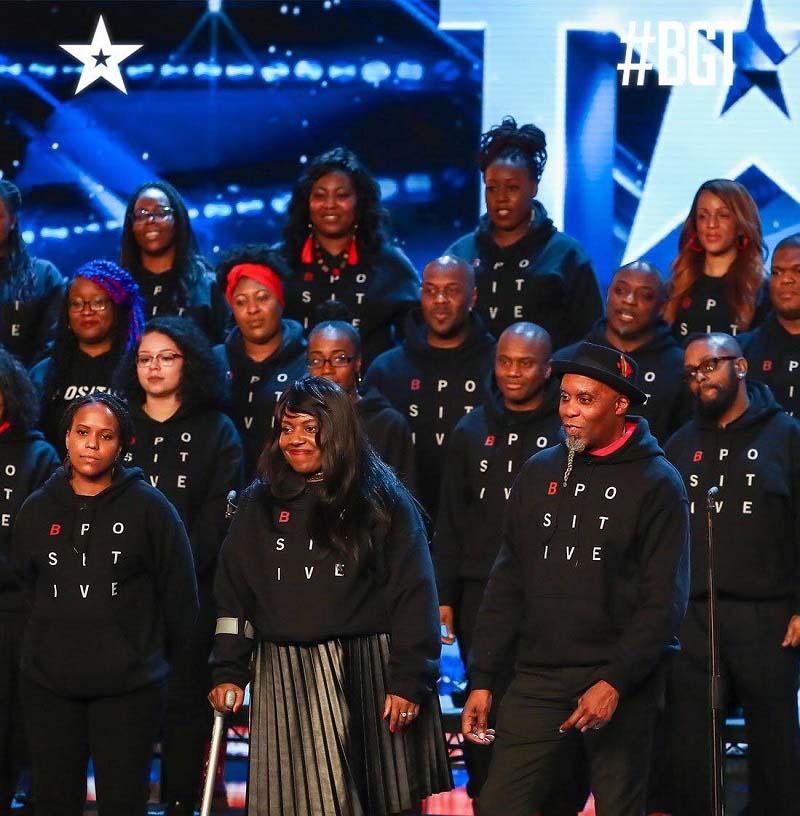 The B Positive choir at Britain's Got Talent