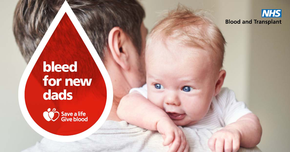 Bleed for new dads campaign image