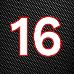The number 16