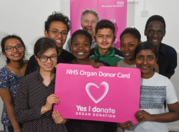 Students from the Pestalozzi school in Lusaka support organ donation