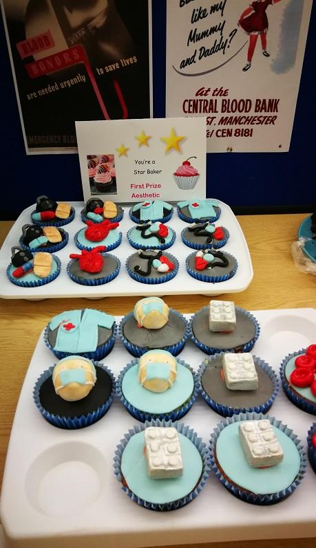 Prize-winning organ donation-themed cupcakes
