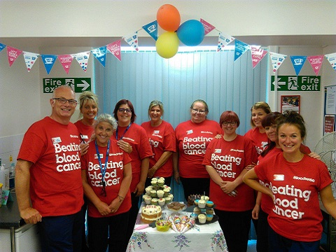 The Stoke Blood Donation team join in the celebrations