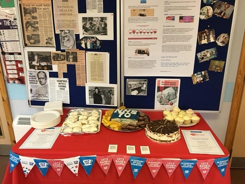 The spread at our Liverpool Donor Centre