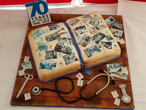 This stunning NHS 70 cake was made by Alison Follows from our Leicester Donor Centre
