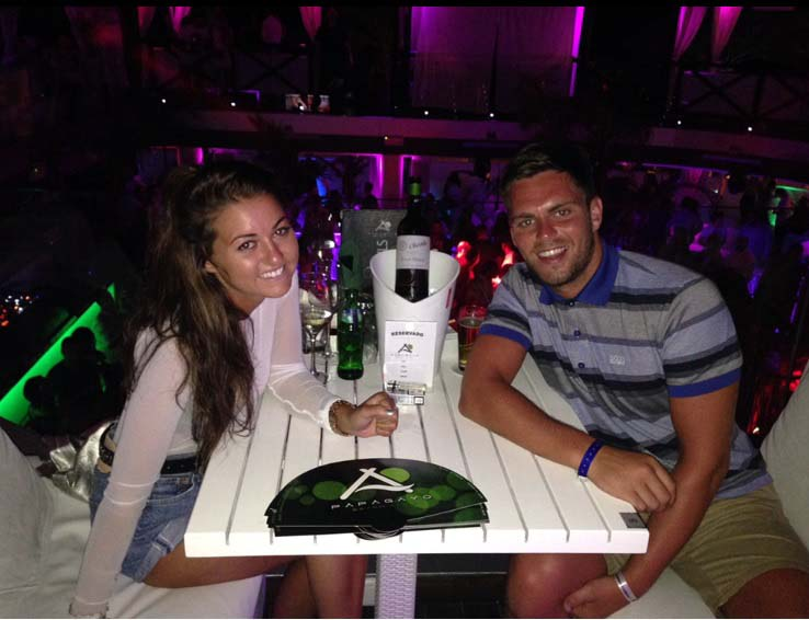 Aaron Mellis and Amber Hagan before Aaron fell ill