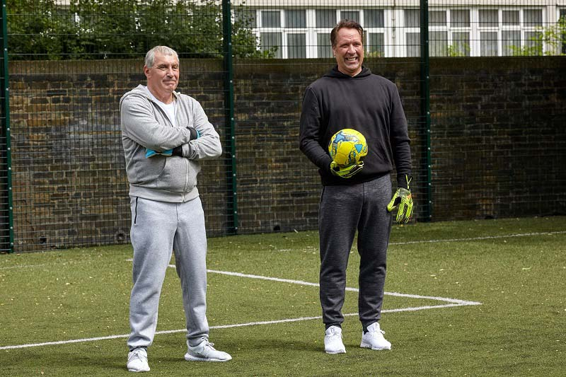 David Seaman and Peter Shilton
