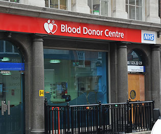 An image of the London West End Donor Centre