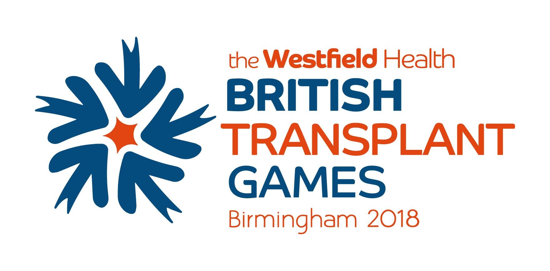 The Westfield Health British Transplant Games 2018 logo