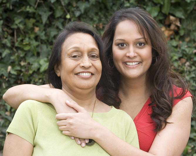 Swati and her mother Kanchan embracing