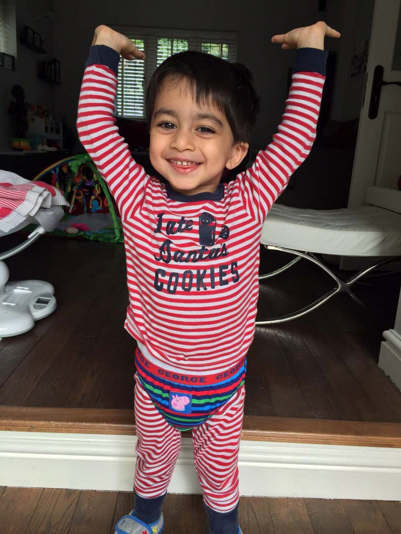 Aari in his pyjamas