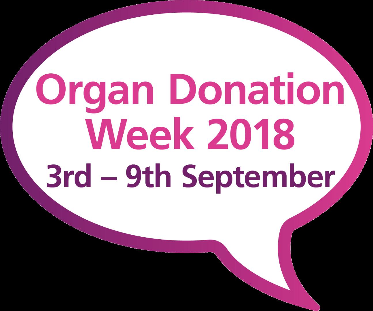 Organ Donation Week speech bubble