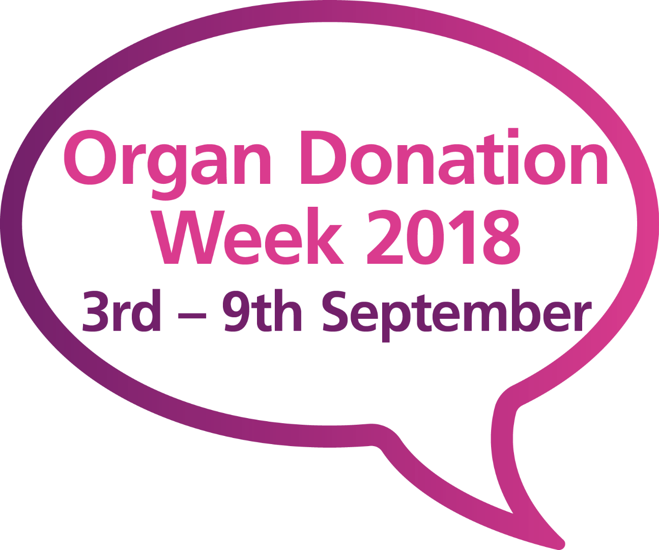 Organ Donation Week speech bubble