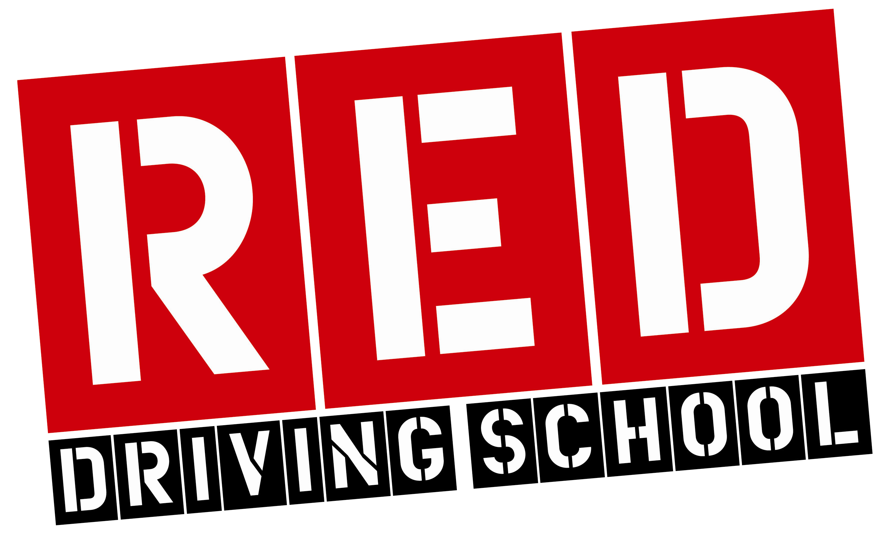 Red driving school logo