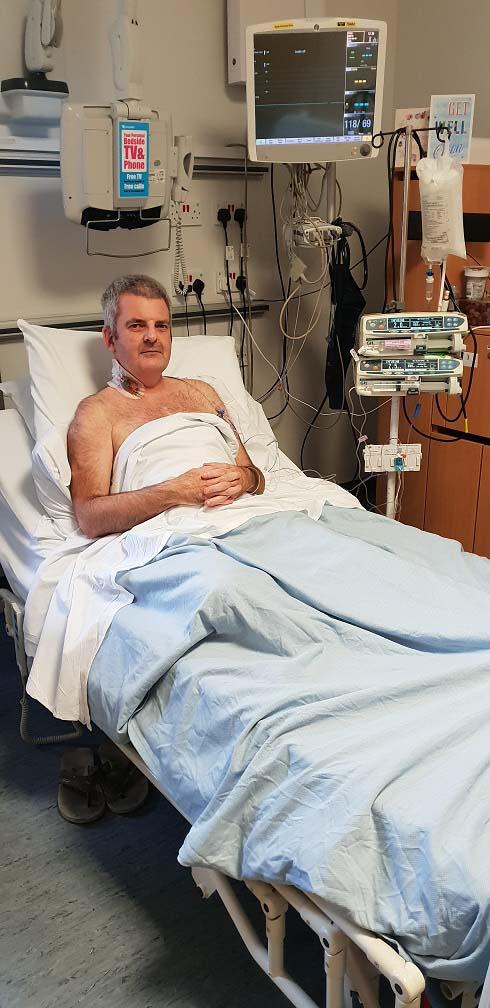 Gareth Evans in Wythenshaw Hospital