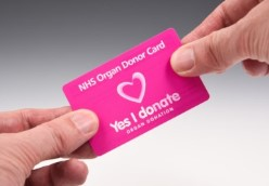 Hands holding an Organ Donor Card