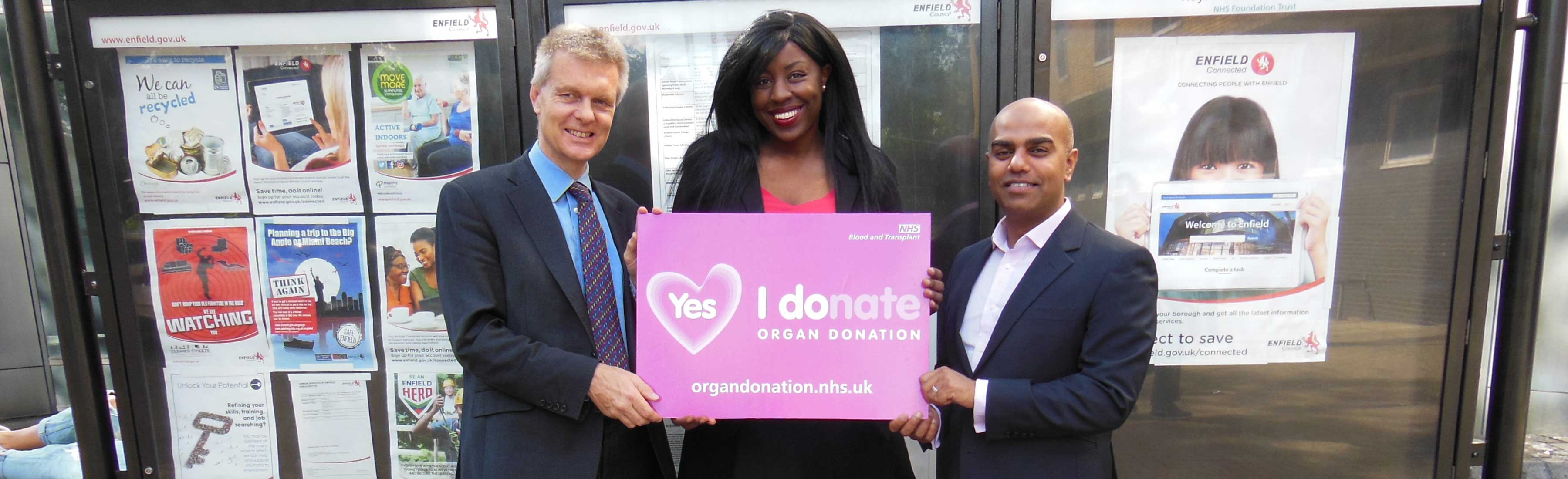 Organ donation, Enfield Council