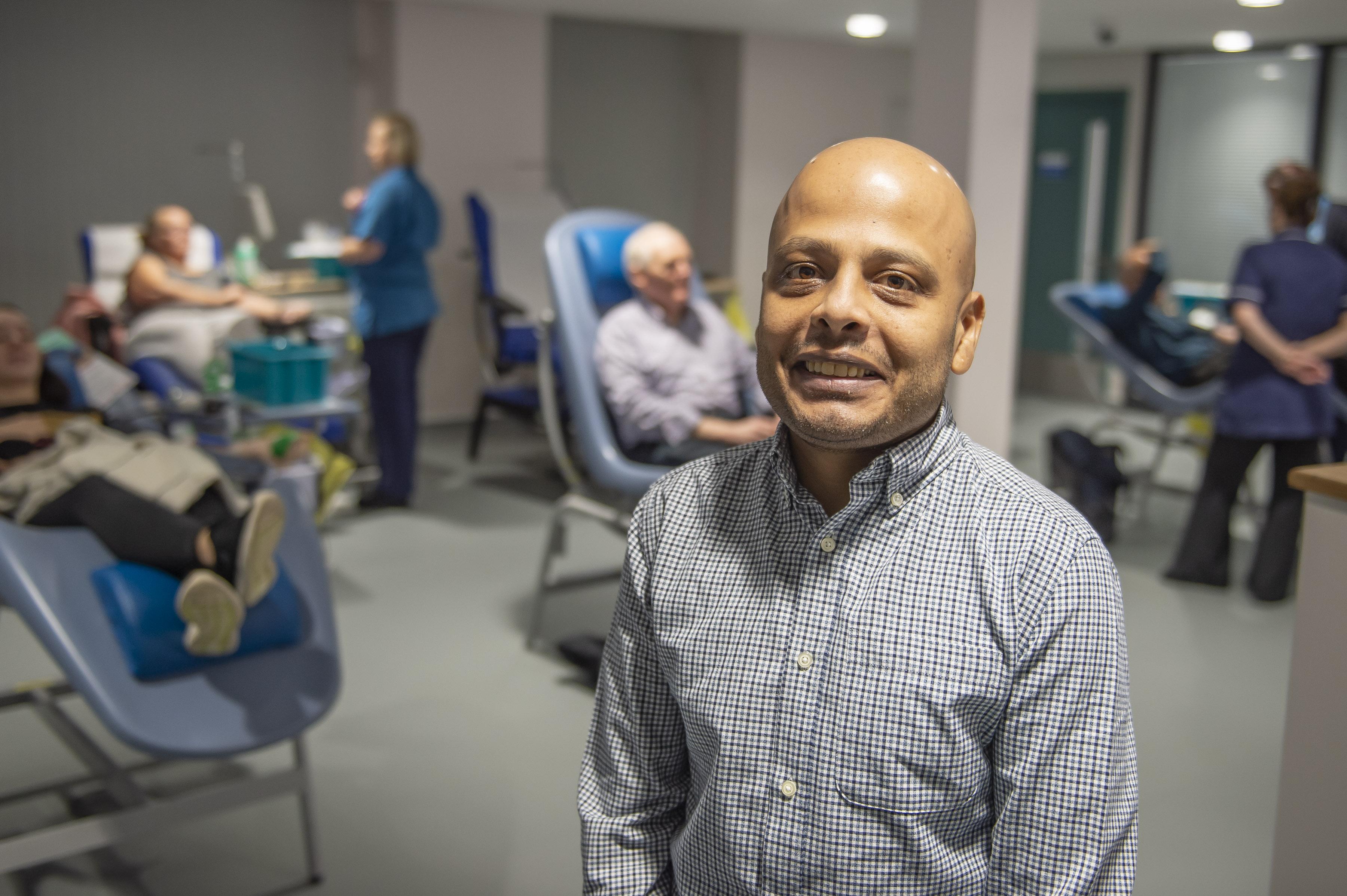 Devesh Thakkar visits the new donor centre