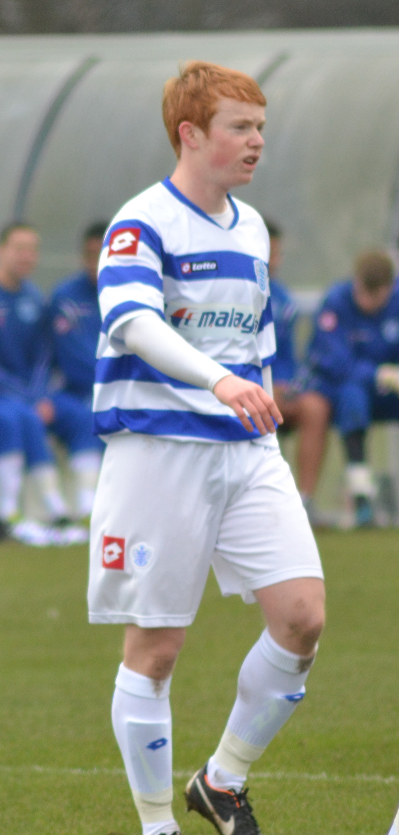 Jordan Walker playing football for QPR