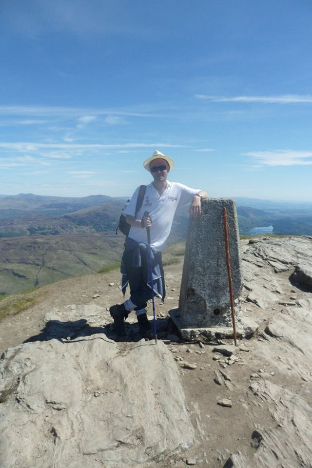 Mark at the summit of Ben Lomond