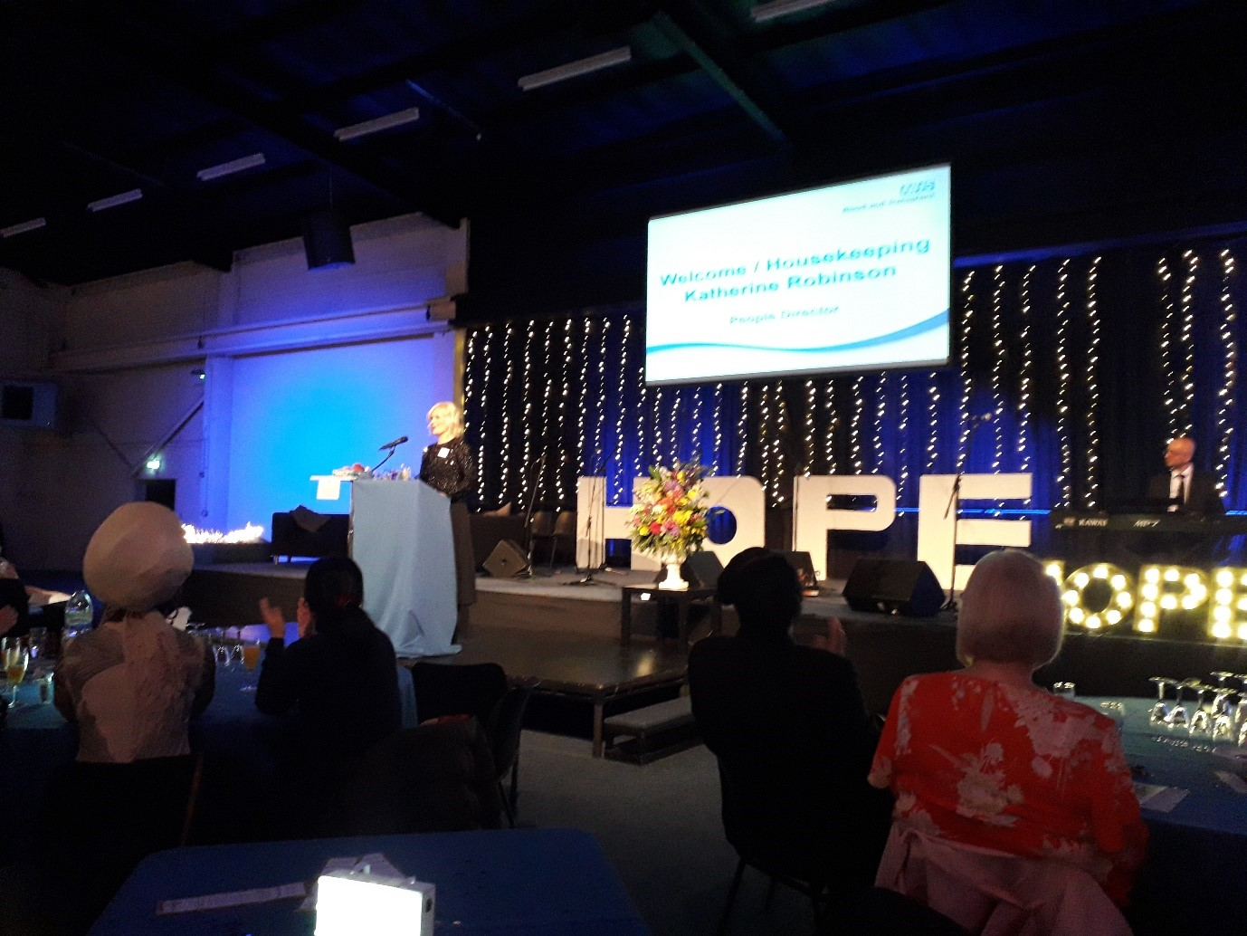 Katherine Robinson opening the NHSBT Give Hope Awards 2018