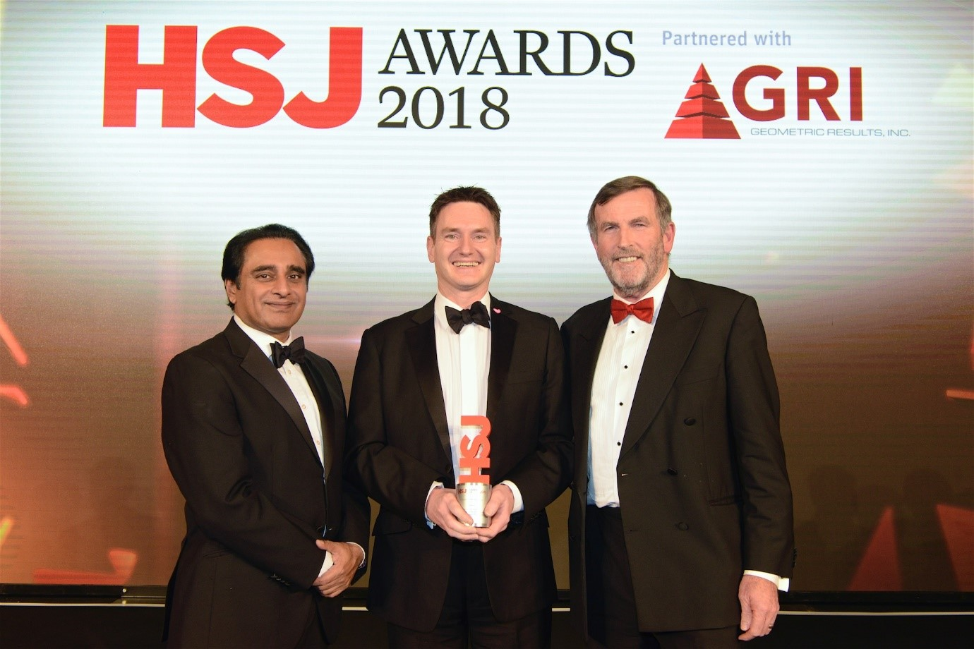 Anthony receives his HSJ award