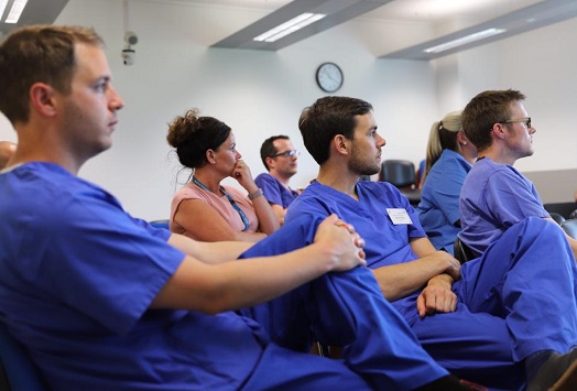 Delegates attend a deceased donation course