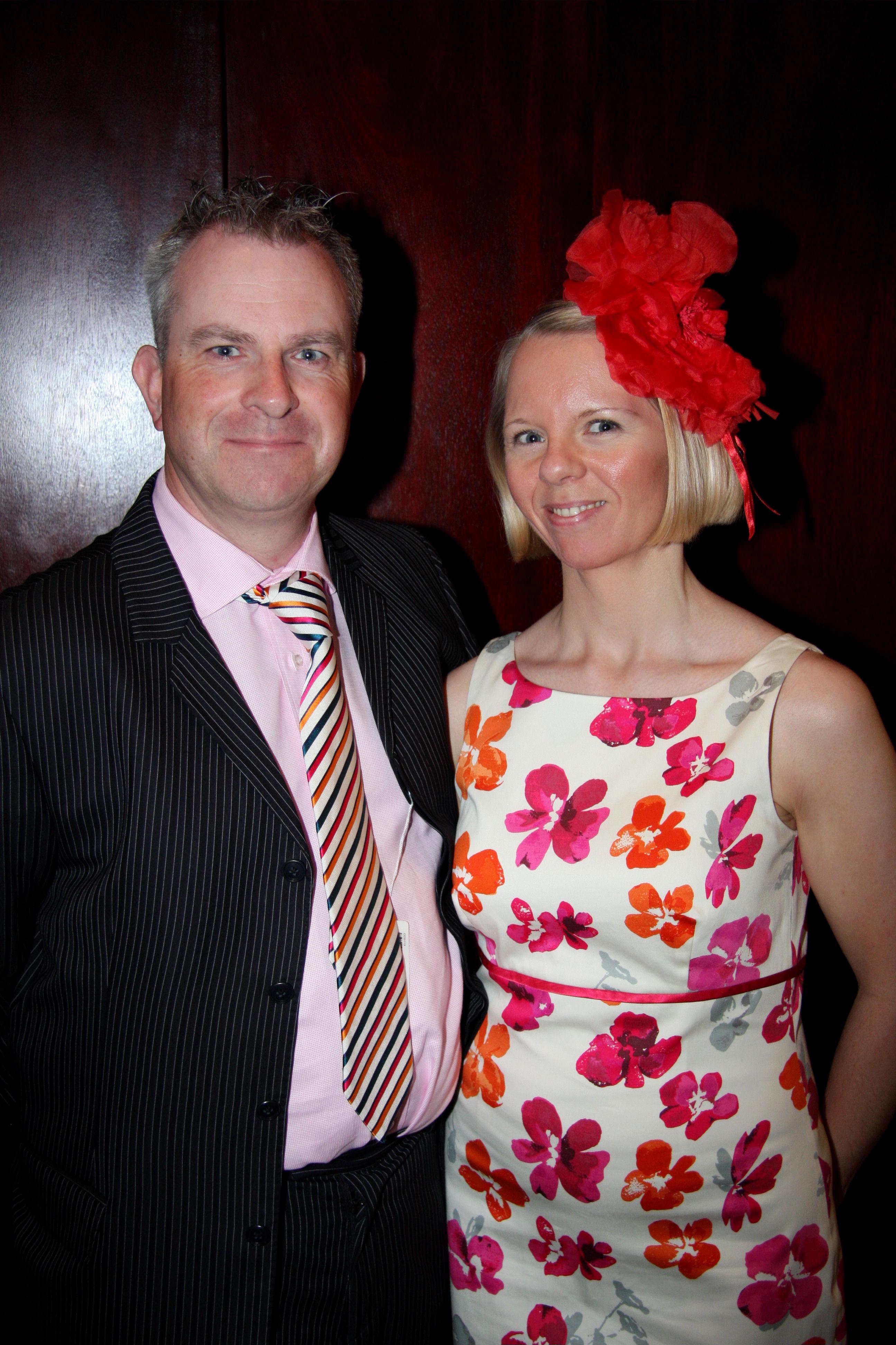 Mark and Karen in formal dress