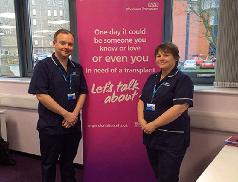 Two senior nurses in organ donation pose for a photo