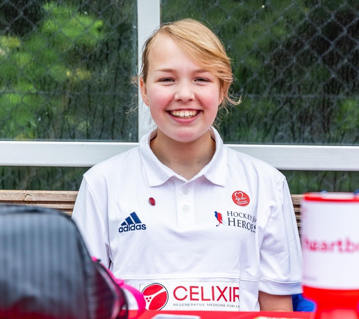 Anna in her hockey kit