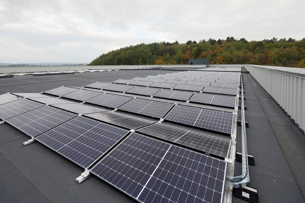 Solar panels on the roof of our new centre in Barnsley