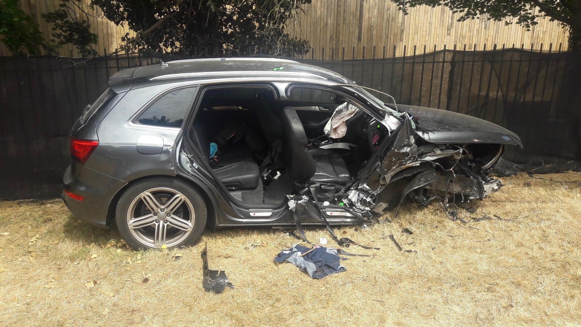 Emily Pringle's car after the collision